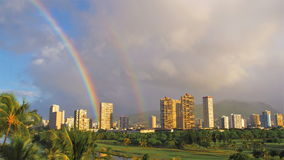 Rainbow East Honolulu Royalty Free Stock Photography