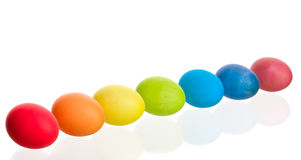 Colorful row of Easter eggs Royalty Free Stock Photography