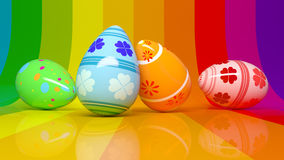 Rainbow easter eggs Royalty Free Stock Photo