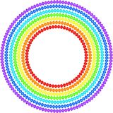 Rainbow of Easter eggs Stock Photography