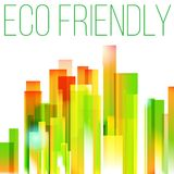 Rainbow eco friendly city concept Royalty Free Stock Images