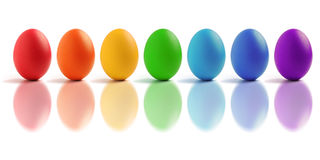 Rainbow Egg Stock Image