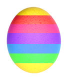 Rainbow egg. Colorful egg stock illustration