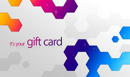 Rainbow Elements Gift Card Royalty Free Stock Images