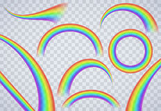 Rainbow elements on transparent background Stock Photography