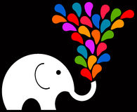 Rainbow elephant Stock Photos