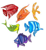 Rainbow emotional fish Royalty Free Stock Images