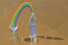Rainbow energy Stock Photos