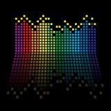 Rainbow equaliser Stock Photos