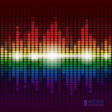 Rainbow equalizer  background Stock Images
