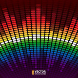 Rainbow equalizer  background Royalty Free Stock Photos