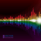 Rainbow equalizer background vector illustration
