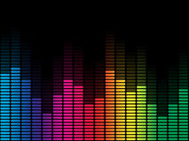 Rainbow Equalizer with Black Background royalty free illustration