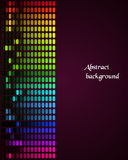 Rainbow Equalizer on dark background. Illustration of colorful musical bar showing volume on black background Stock Images