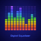 Rainbow equalizer Stock Images