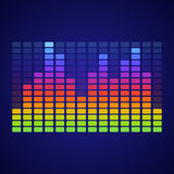 Rainbow equalizer Royalty Free Stock Photo