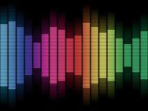 Rainbow Equalizer Wave Stock Images