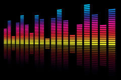 Rainbow Equalizer Wave Royalty Free Stock Images