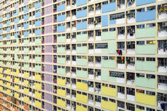 Rainbow Estate in Choi Hung, Hong Kong Stock Photos