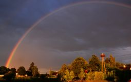 Rainbow. In the evening sky Royalty Free Stock Images