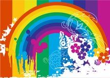 Rainbow everywhere Royalty Free Stock Photos
