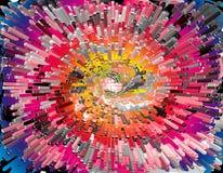 Rainbow explosion Stock Image