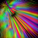 Rainbow explosion, abstract multicolored vector background in vivid spectrum colors, disco laser show decoration   Royalty Free Stock Images