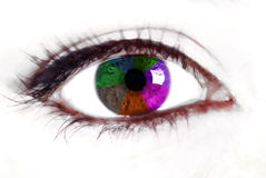 Rainbow eye Royalty Free Stock Photos
