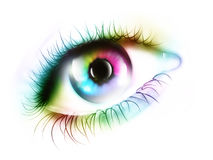 Rainbow eye. Computer generated  for your projects Stock Photo
