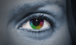 Rainbow Eye Stock Photo