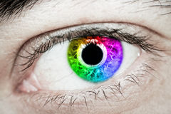 Rainbow Eye Stock Image