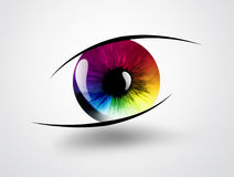 Rainbow eye. On a light background Royalty Free Stock Images