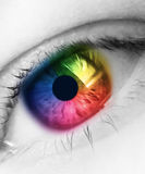 Rainbow eye Stock Photo
