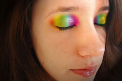 Rainbow Eyelids Royalty Free Stock Images
