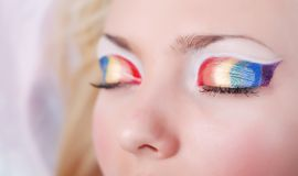 Rainbow eyes Royalty Free Stock Photography