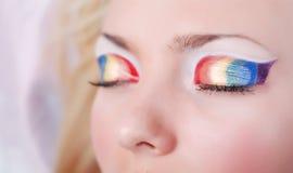Rainbow eyes Royalty Free Stock Photography