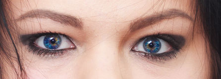 Rainbow eyes. Close up of a beautiful girl eyes Royalty Free Stock Photos