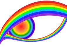 Rainbow eyes Royalty Free Stock Image