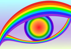 Rainbow eyes Royalty Free Stock Image