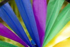 Rainbow Fabric Wheel. Color Wheel royalty free stock images
