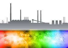 Rainbow factory Royalty Free Stock Photos