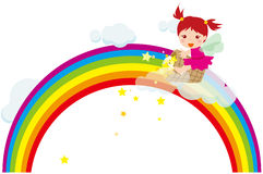 Rainbow fairy. Vector illustration of Happy Rainbow fairy Stock Photos