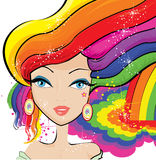 Rainbow fairy graphic royalty free illustration