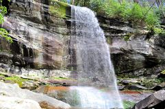 Rainbow Falls. View of the falls off Roaring Fork Motor Trail just outside Gatlinburg,Tennessee. About a four to five mile walk to see this falls roundtrip on Royalty Free Stock Photos