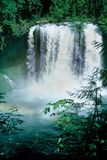 Rainbow Falls. Waterfalls creating a small rainbow Royalty Free Stock Image