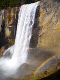 Rainbow and Falls Stock Photo