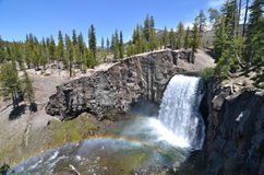 Rainbow Falls At Devils Postpile National Monument Stock Image