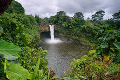Rainbow Falls in Big Island Stock Photos