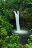 Rainbow Falls on Big Island Hawaii Stock Photo