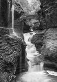 Rainbow Falls Black and White Royalty Free Stock Photography
